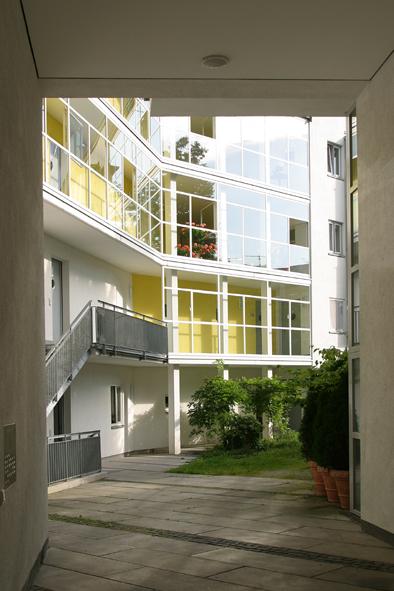 Blick zum Wohnungsaufgang