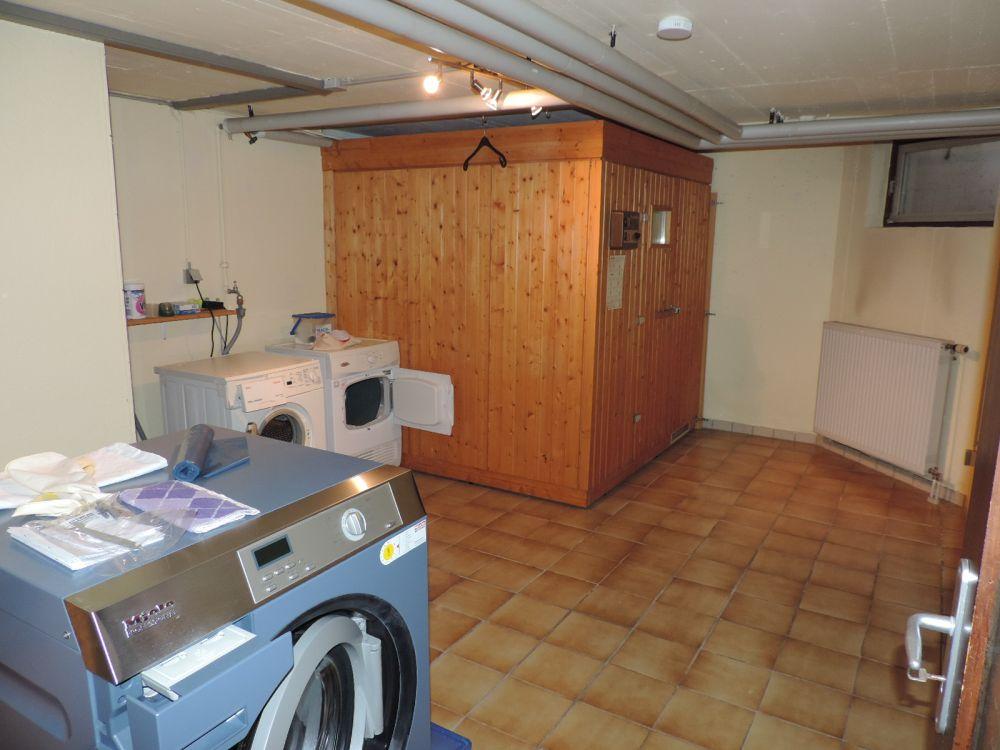Blick in die Waschküche/Sauna